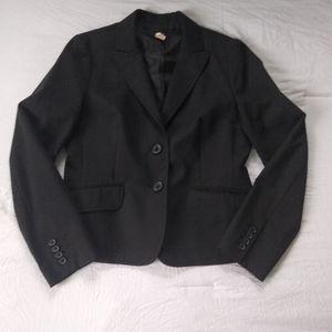 J Crew Black Jacket Blazer sz 10 Staple Piece